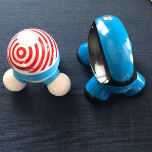 2 hand massagers.Homedics